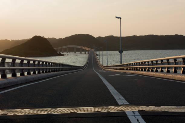Brücke über das Meer in Japan Yamaguchi – Foto