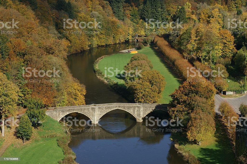 Bridge over the Semois, Bouillon royalty-free stock photo