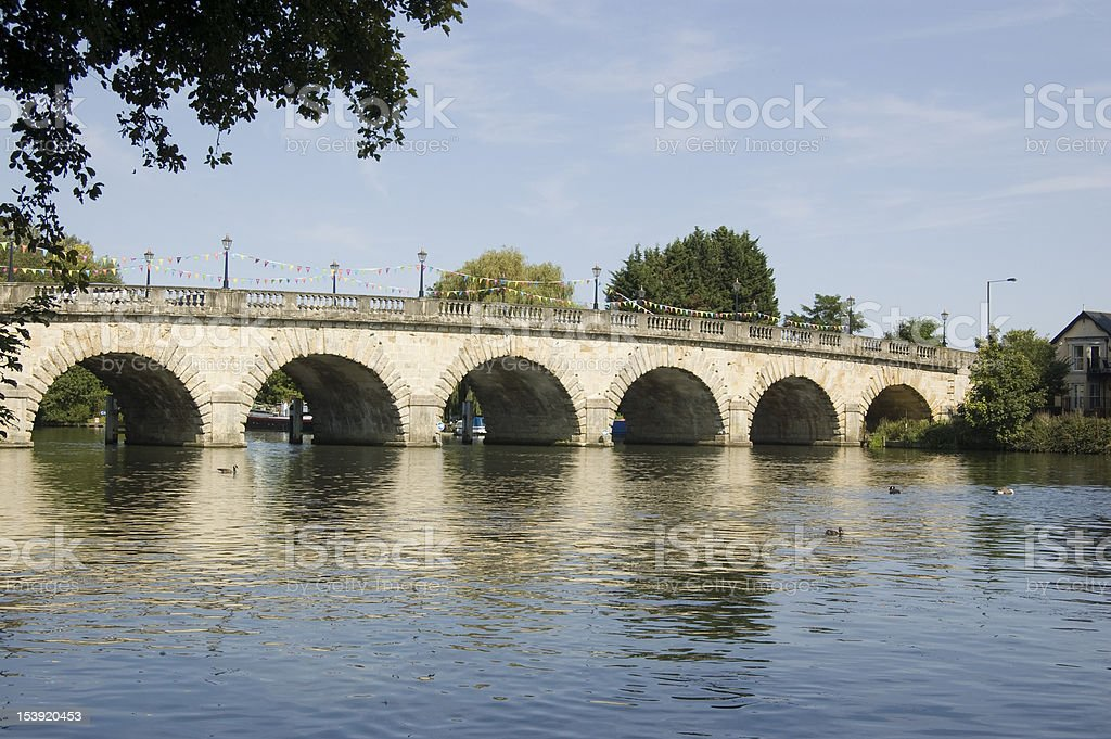 Bridge over the Thames, Maidenhead royalty-free stock photo
