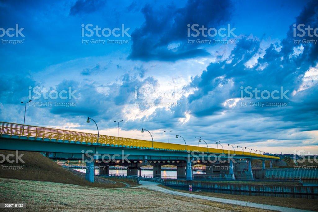 Bridge over the Vistula stock photo