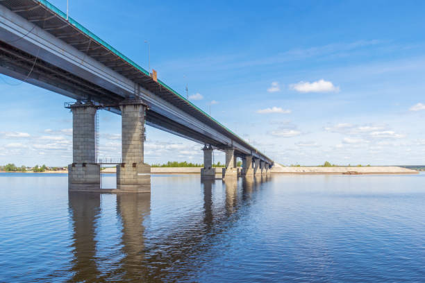 Cтоковое фото Bridge over the Volga in Tatarstan