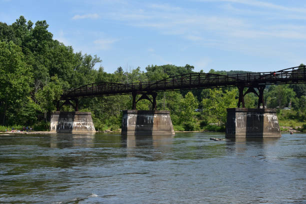 A Bridge over the Youghiogheny River stock photo