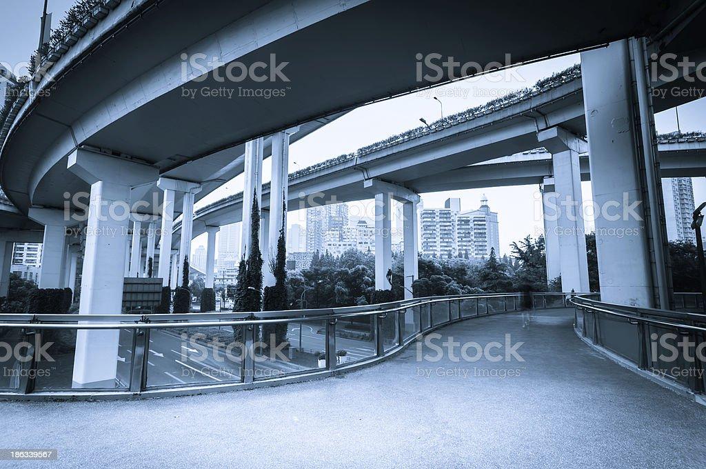 bridge overpass of shanghai china. royalty-free stock photo
