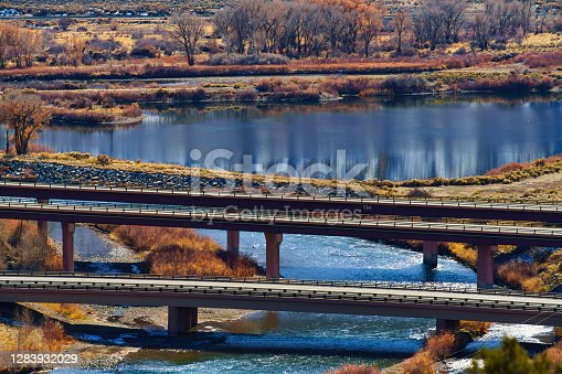 istock Bridge Overpass on Interstate 70 Colorado 1283932029