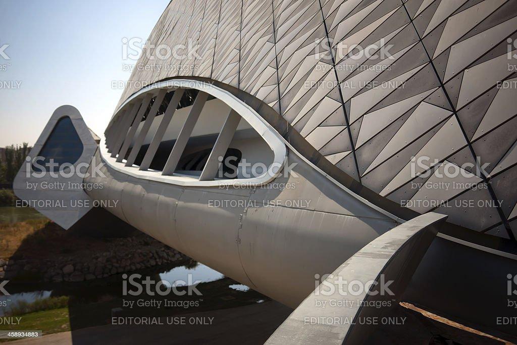 Bridge Pavilion Expo 2008, Zaha Hadid stock photo