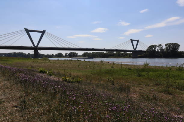 Bridge Airport bridge in Duesseldorf alias stock pictures, royalty-free photos & images