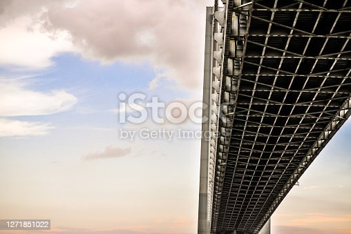 Steel suspension bridge