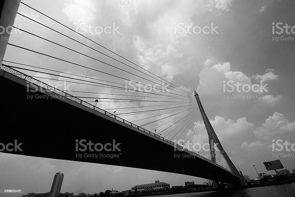 RAMA 8 Bridge stock photo