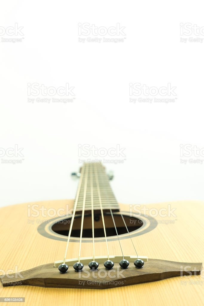 Bridge pin guitar stock photo