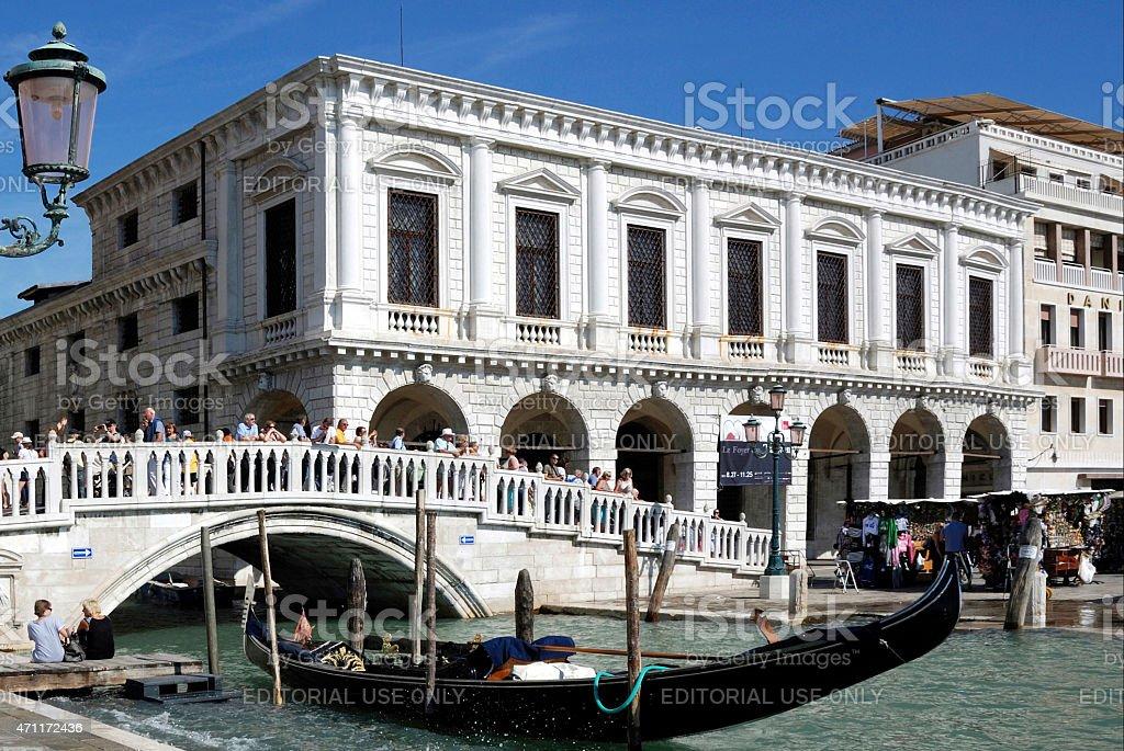 Bridge Ponte della Paglia in Venice - Italy stock photo