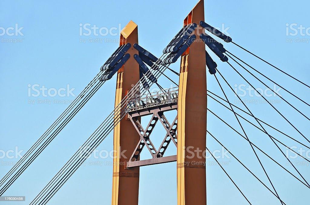 Bridge pylon royalty-free stock photo