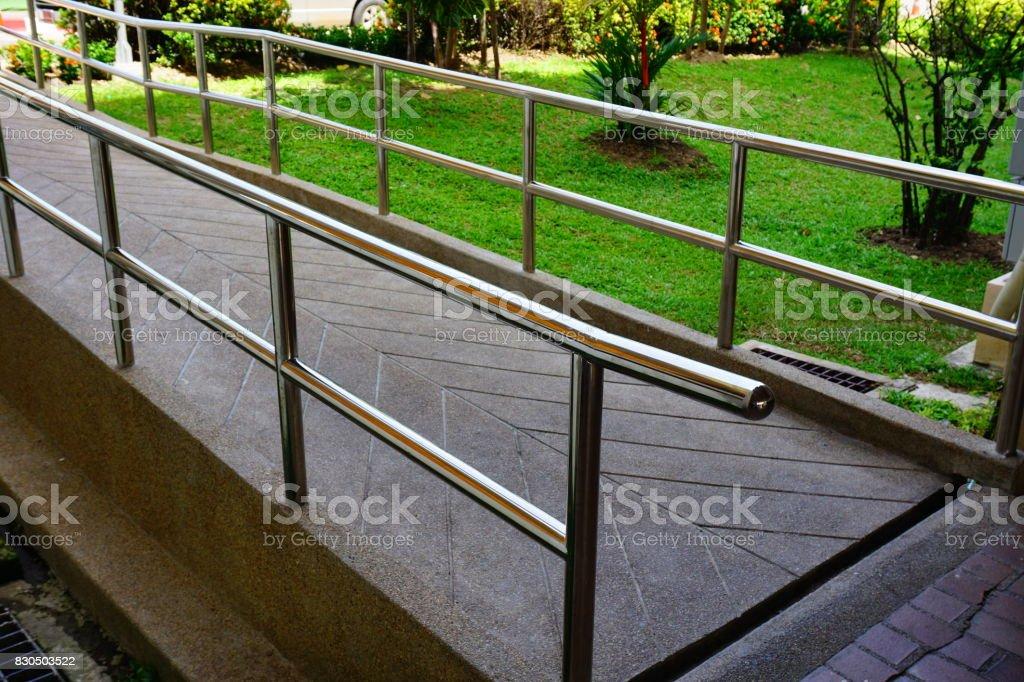 Bridge railing stock photo