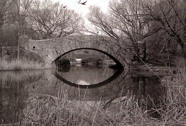 Bridge & Reflection stock photo