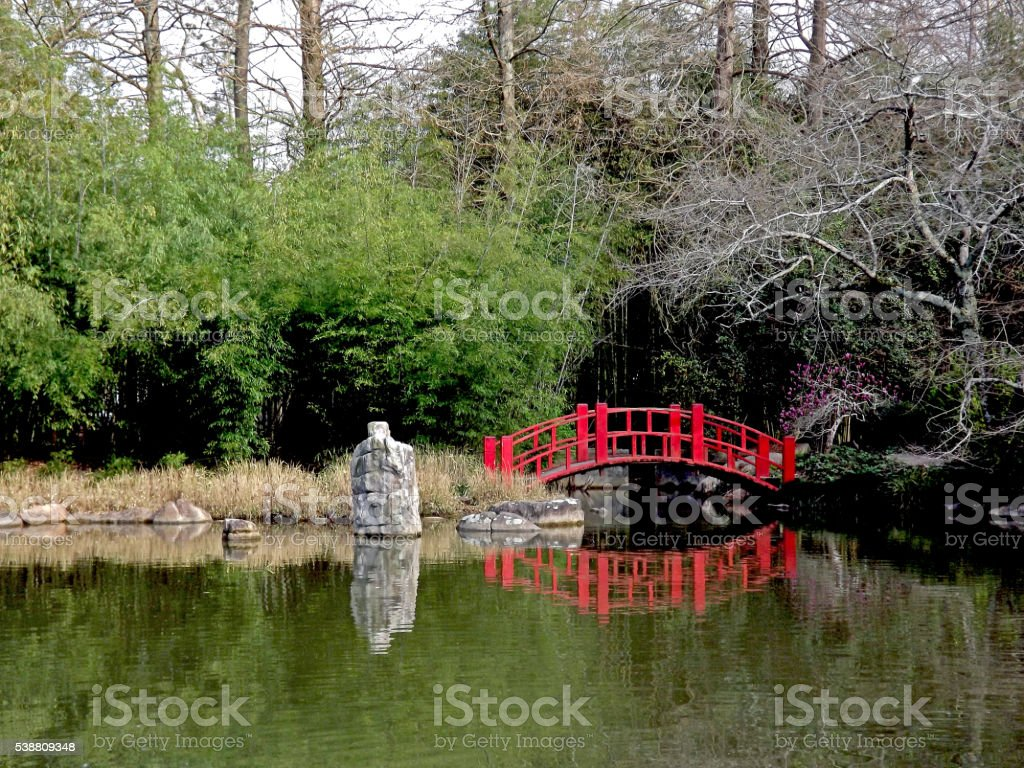 Bridge Reflection stock photo