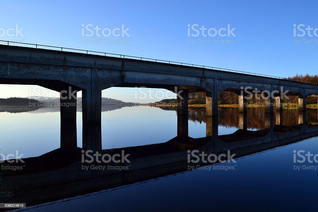 Bridge reflections stock photo