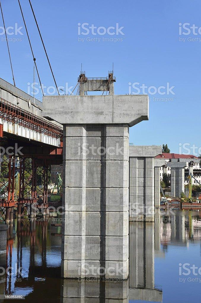 Bridge repair and construction site royalty-free stock photo