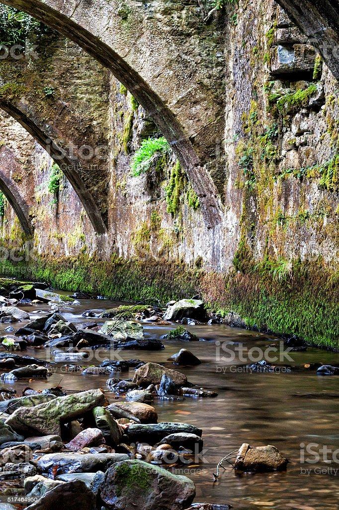 Puente del río - foto de stock