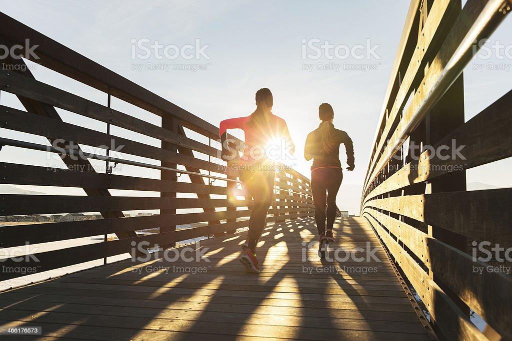 Bridge Run royalty-free stock photo