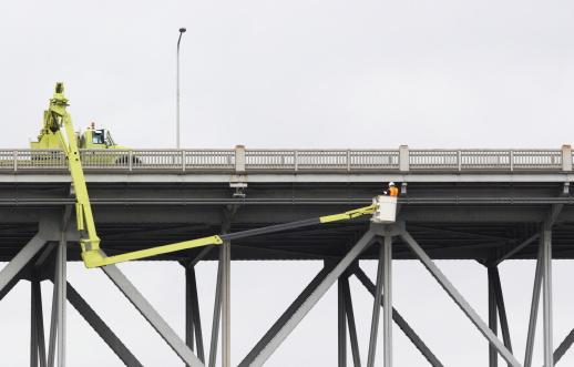 Bridge Safety Inspection Worker Construction Equipment