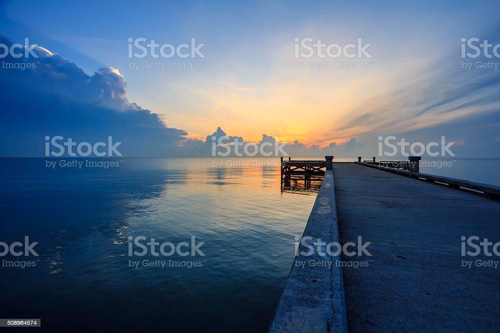 bridge sea stock photo