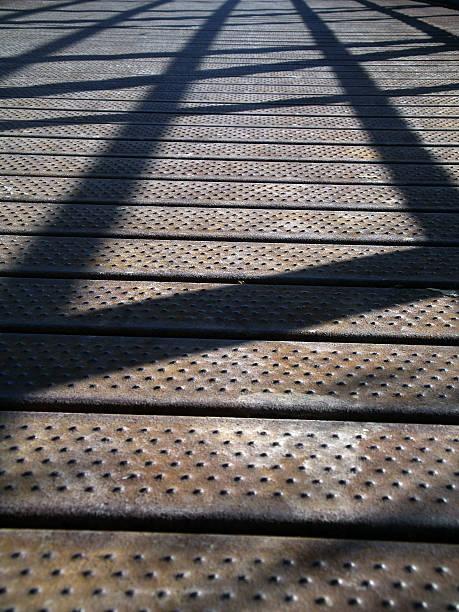 Bridge shadows stock photo