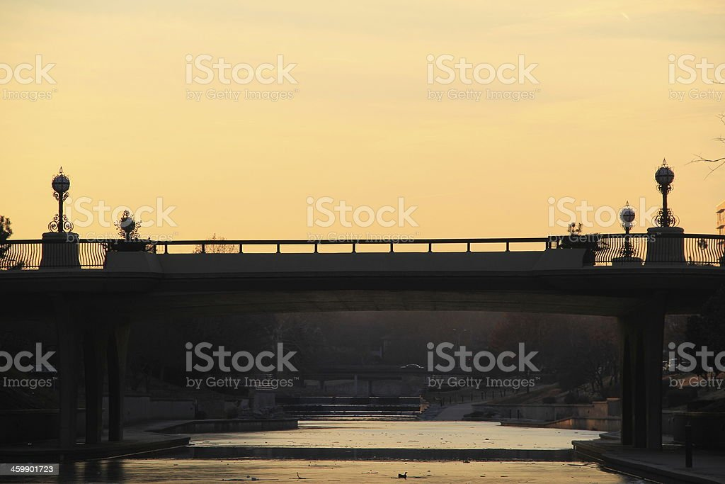 Bridge Silhouette in the Sunset royalty-free stock photo