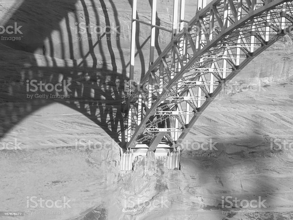 Bridge Steel Girders Shadow stock photo