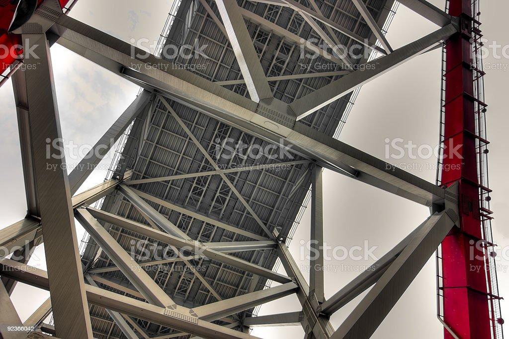 Bridge Steel truss royalty-free stock photo
