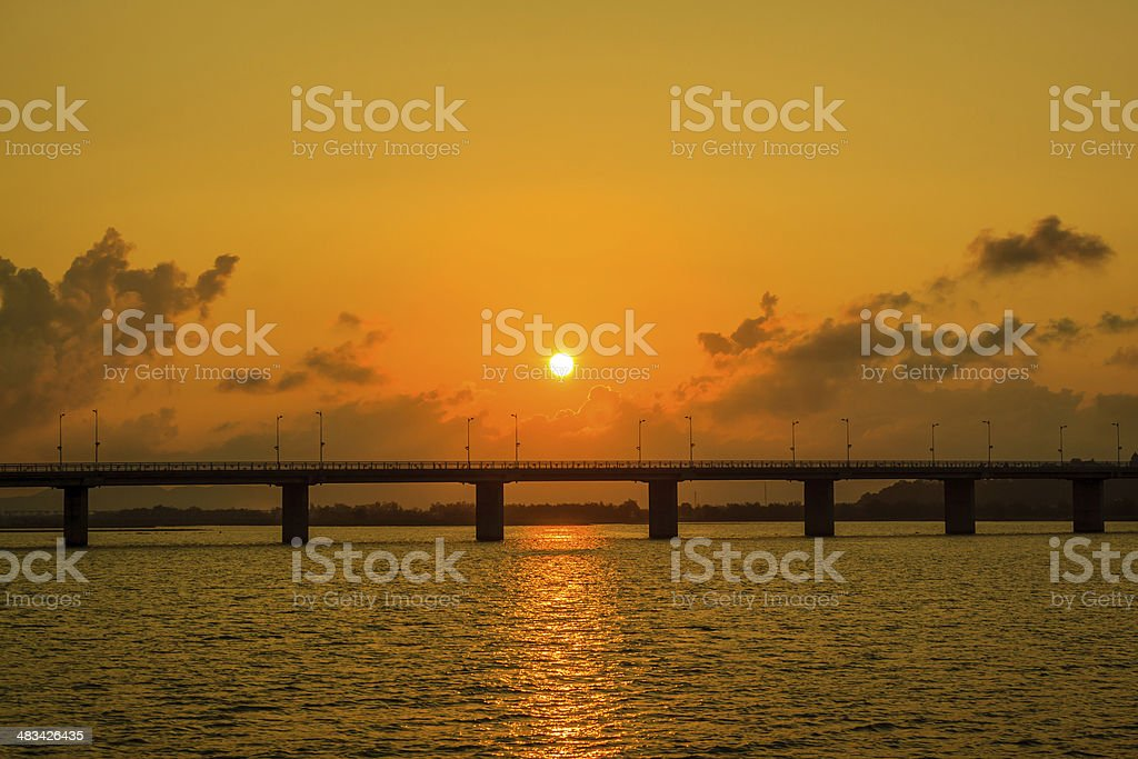 Bridge sunset stock photo
