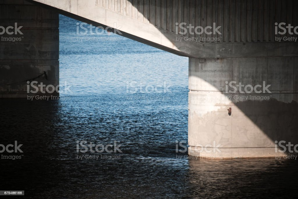 Bridge support close-up stock photo