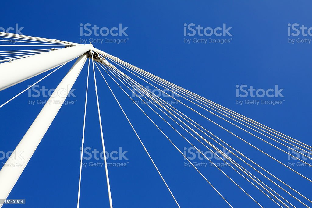 Bridge supports against blue sky royalty-free stock photo