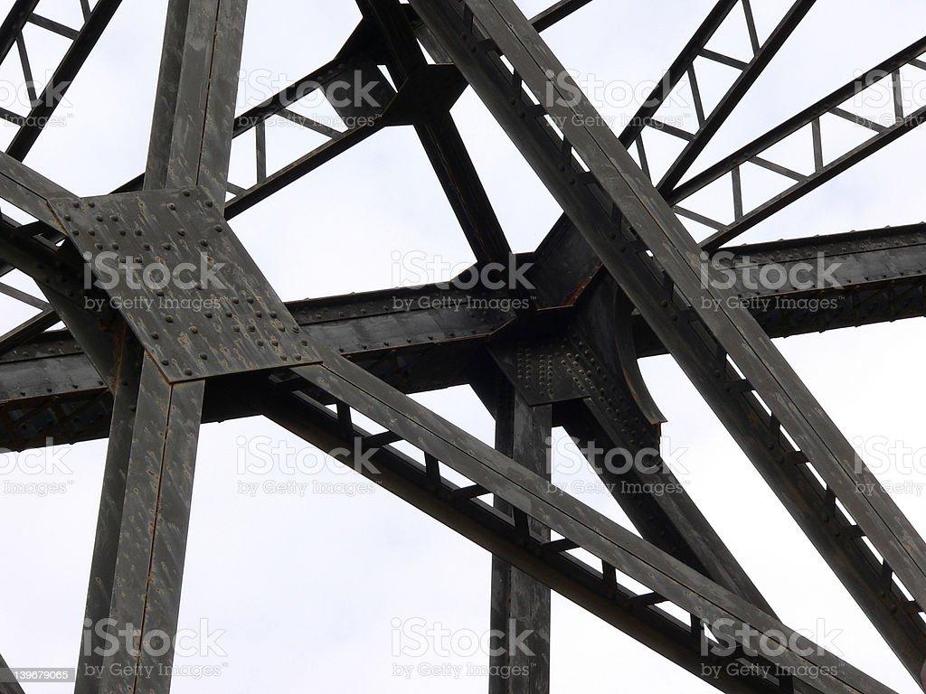Bridge Supports royalty-free stock photo