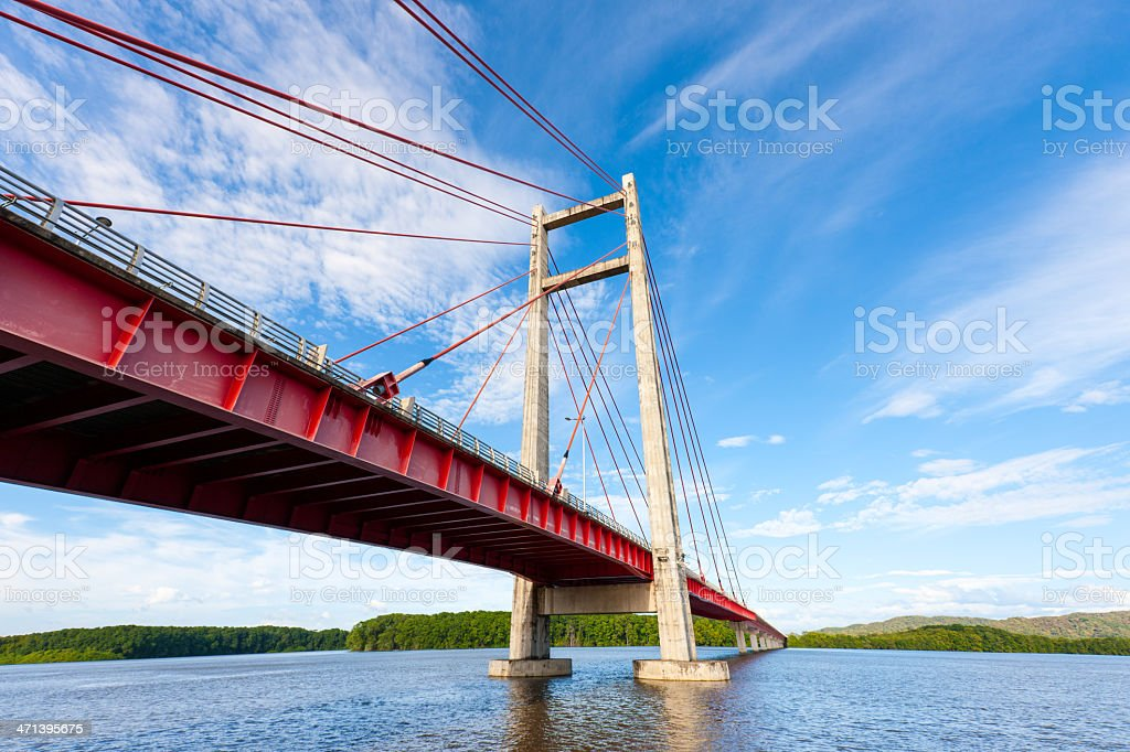 Bridge Tempisque River Costa Rica Puente La Amistad de Taiwan royalty-free stock photo