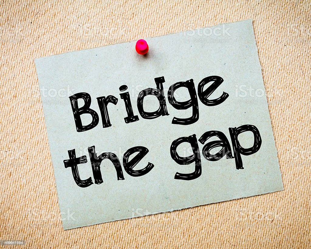 Bridge the gap stock photo