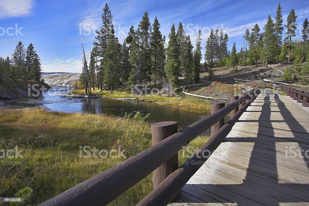 Bridge through a stream royalty-free stock photo