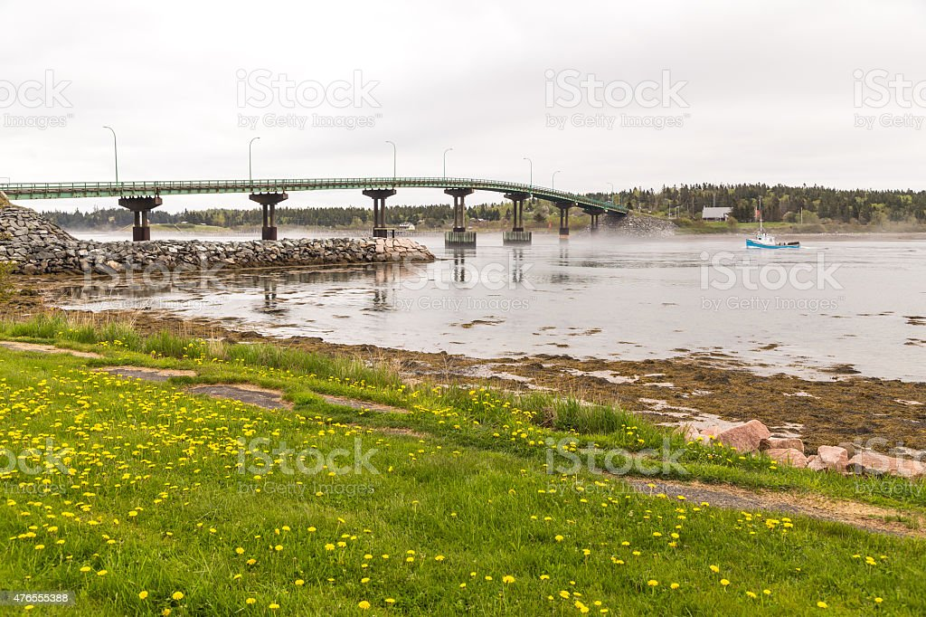 Bridge to Campobello Island stock photo
