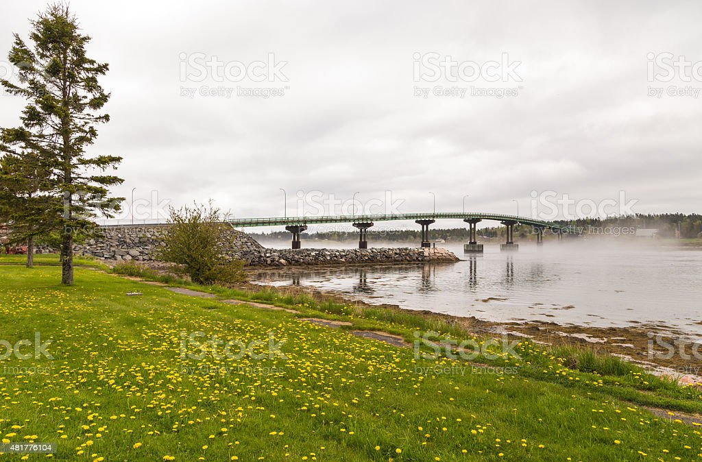 Bridge to Campobello stock photo