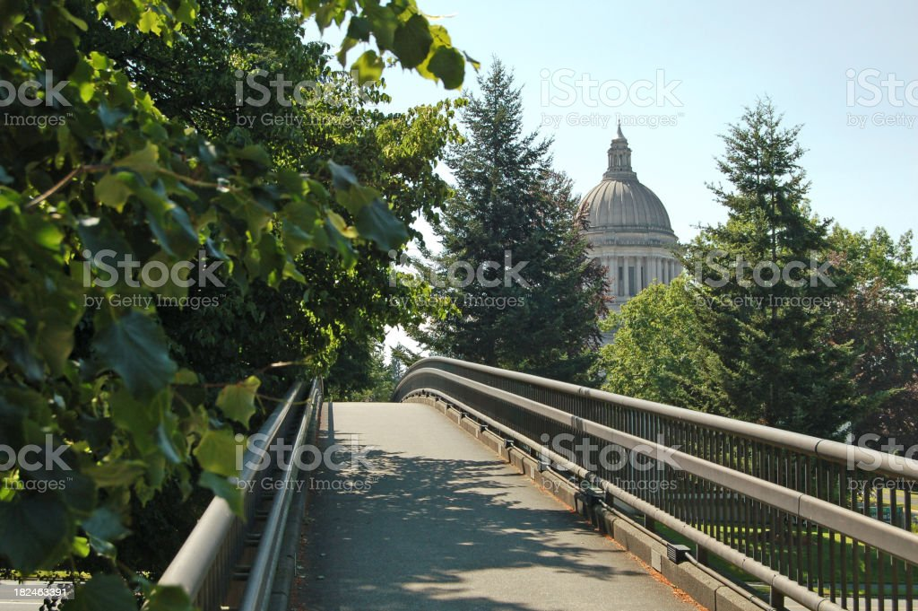 Bridge to Capitol stock photo