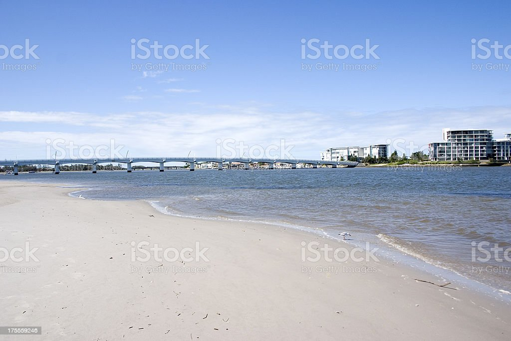 Bridge to Ephraim Island Gold Coast Australia stock photo