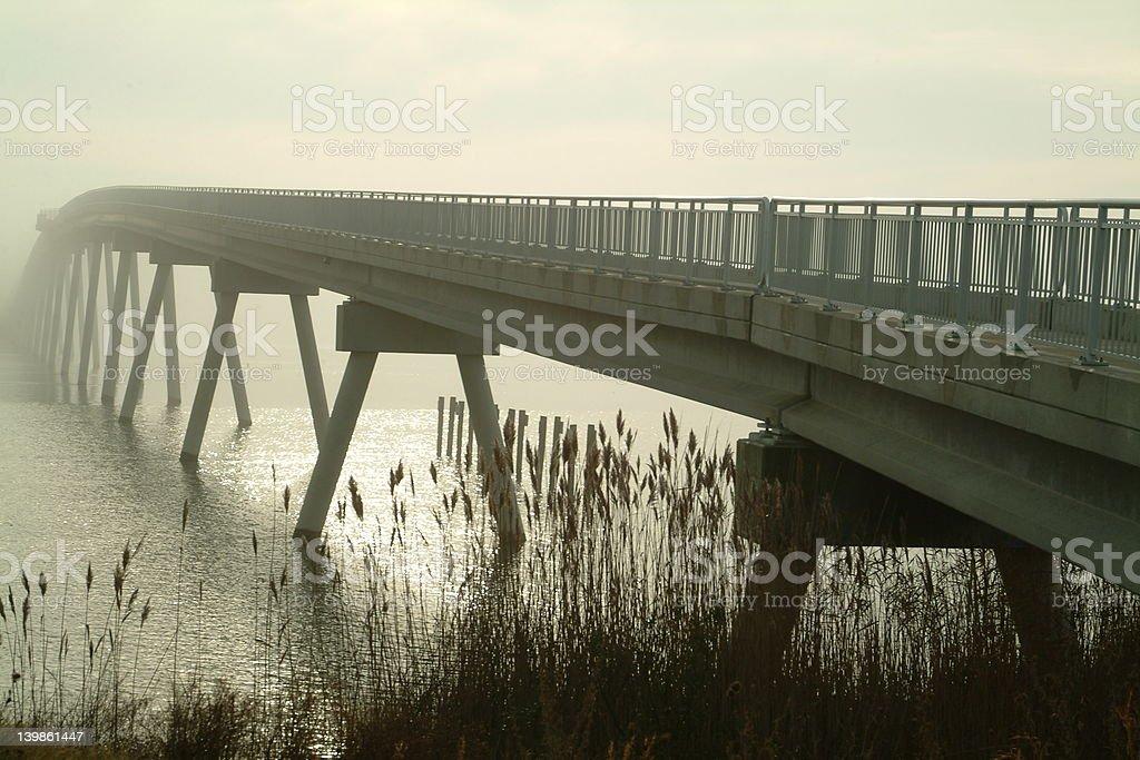 Bridge to Fog stock photo
