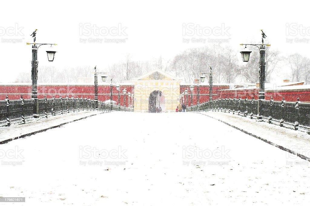 Bridge to Fortress Gates royalty-free stock photo