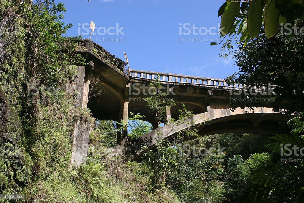 Bridge to Hana royalty-free stock photo