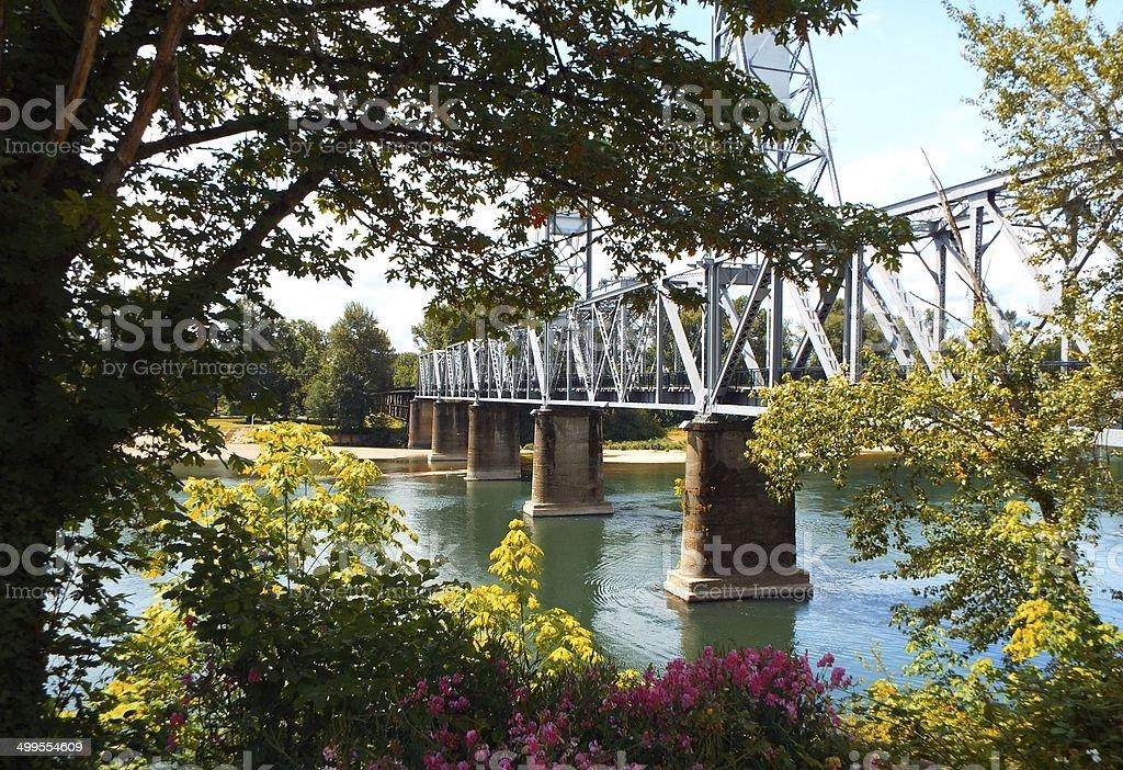 Bridge to Home stock photo