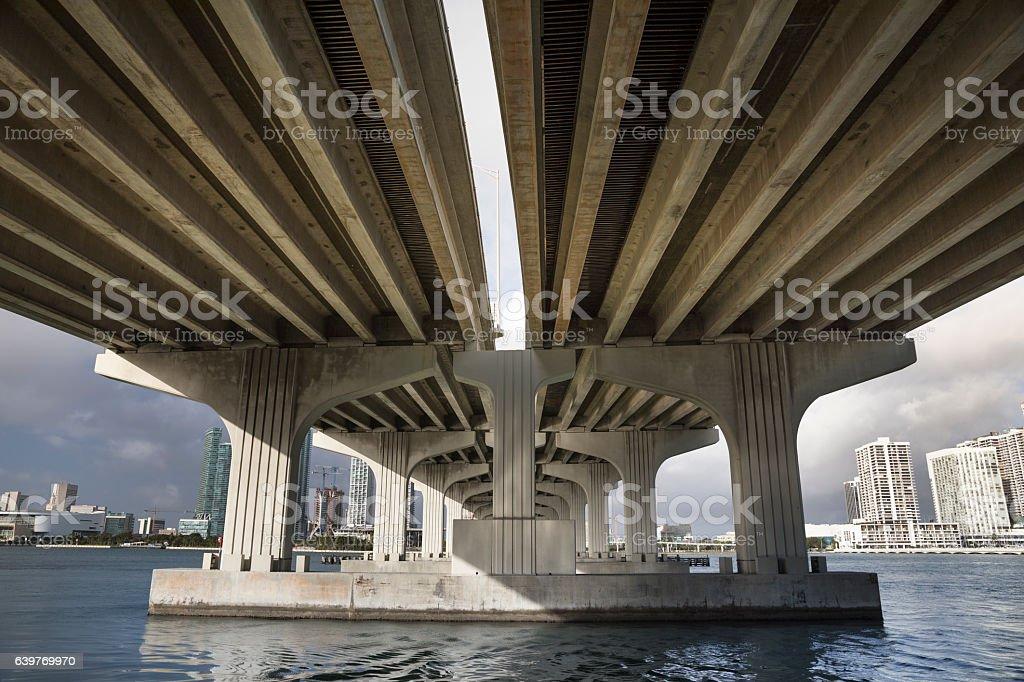 Bridge to Miami Beach stock photo