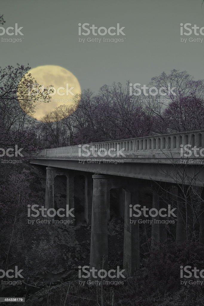Bridge To Nowhere royalty-free stock photo