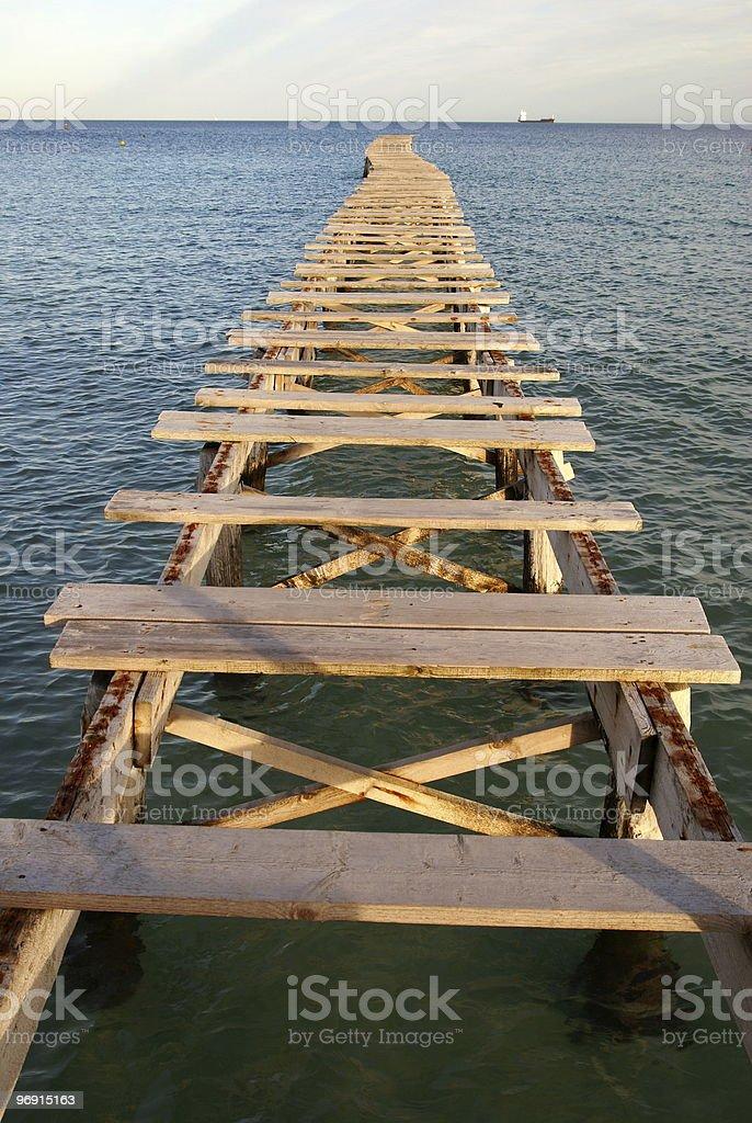 Bridge to nowhere royalty-free stock photo