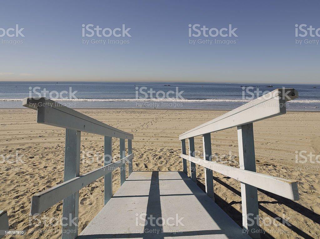 bridge to ocean royalty-free stock photo