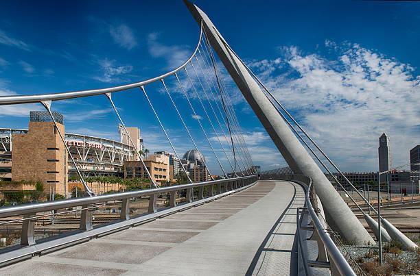 Bridge to Petco Park stock photo
