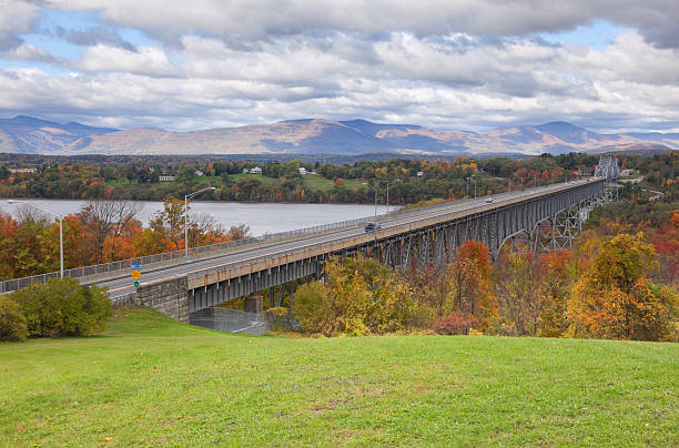 Bridge to the Catskills stock photo
