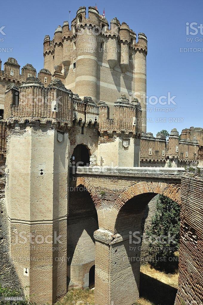 Bridge to the Fortress of Coca (Vertical) stock photo